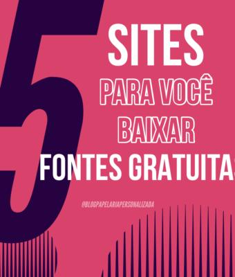 5 sites para você baixar fontes gratuitas